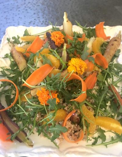 Roasted Carrot Farro Salad