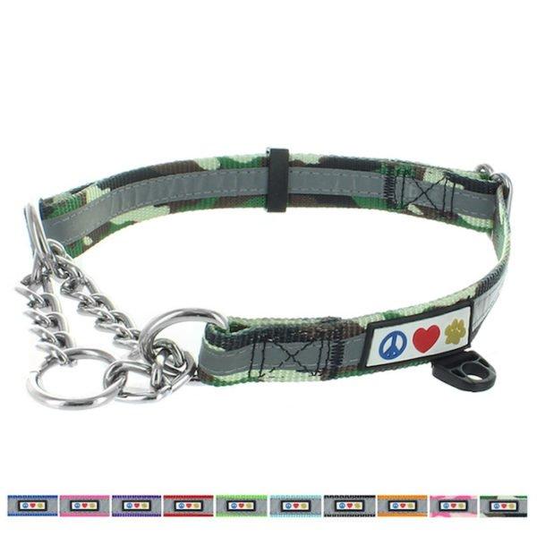 Pawtitas Reflective Chain martingale collar3