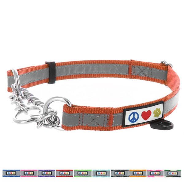 Pawtitas Reflective Chain martingale collar6