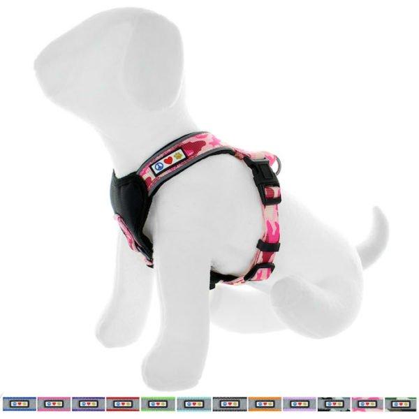 Pawtitas reflective padded dog harness67