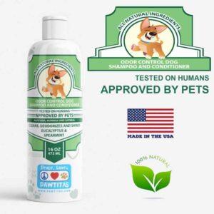 Natural Dog odor control shampoo