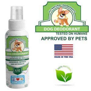 Natural dog deodorant