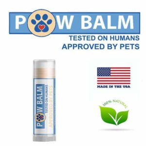 Natural paw balm for dogs