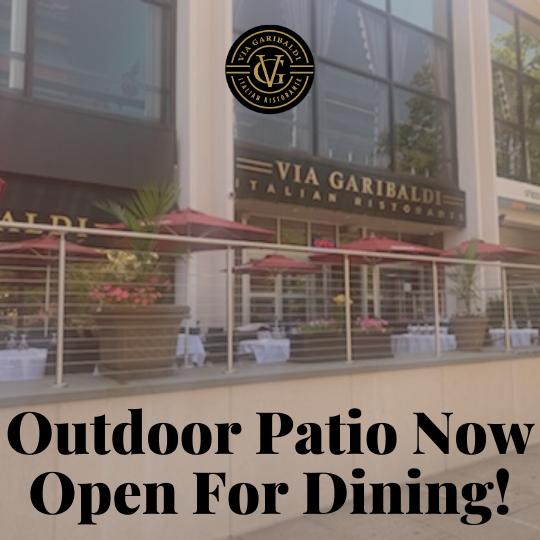 Via Garibaldi Open for Outdoor Dining