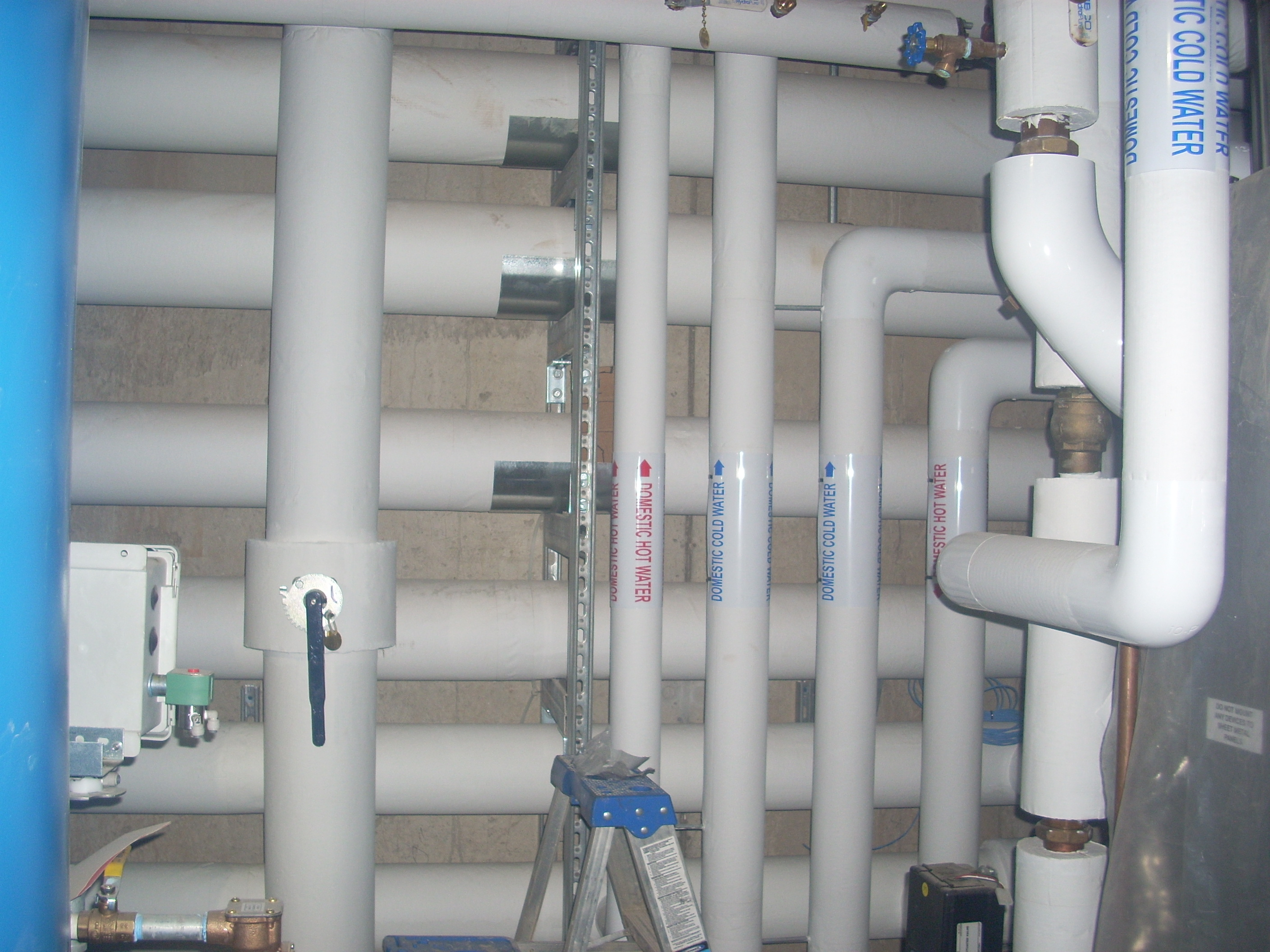 service - gas water air piping