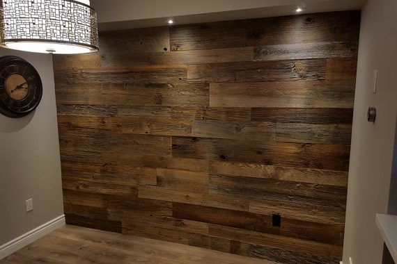 Authentic Barn Board Feature Wall