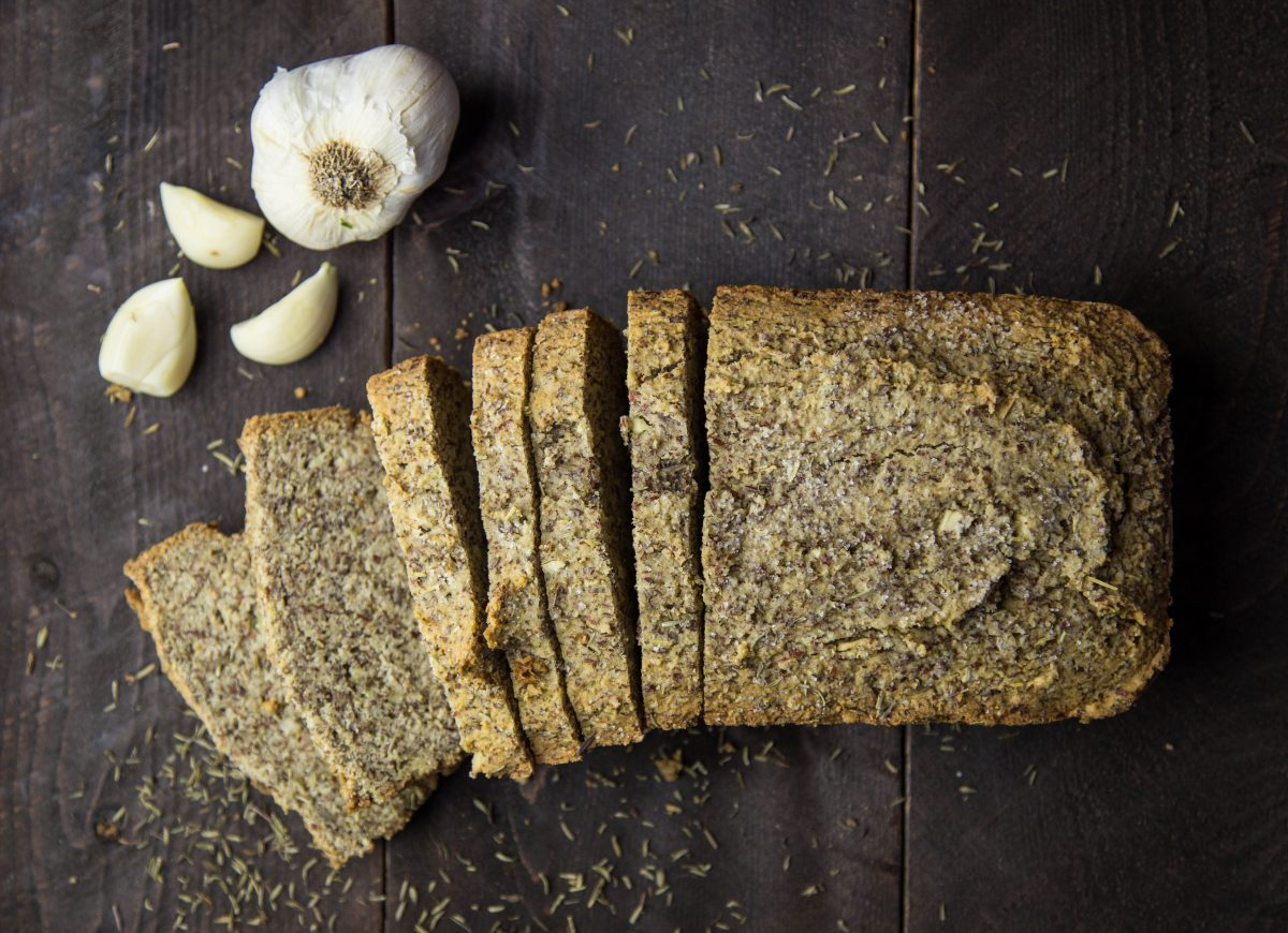 Candida Diet Garlic Rosemary Paleo Bread
