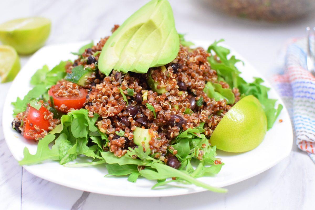 Vegan Red Quinoa Taco Salad | Anti Candida