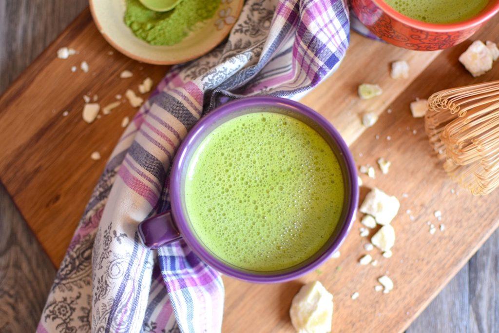 vegan maple matcha latte