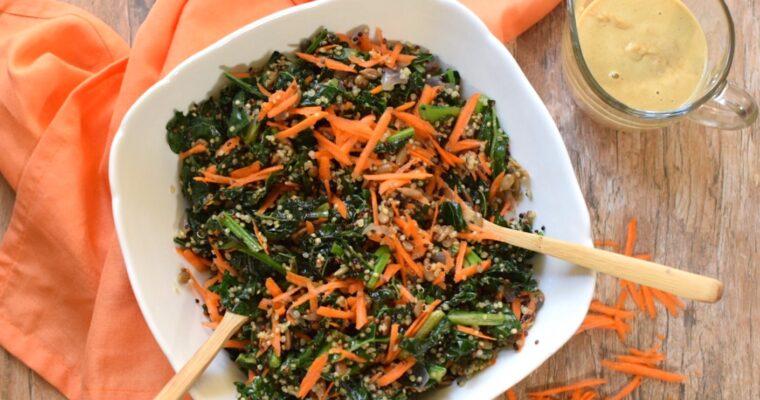 """Kale and Quinoa """"Caesar"""" Salad"""
