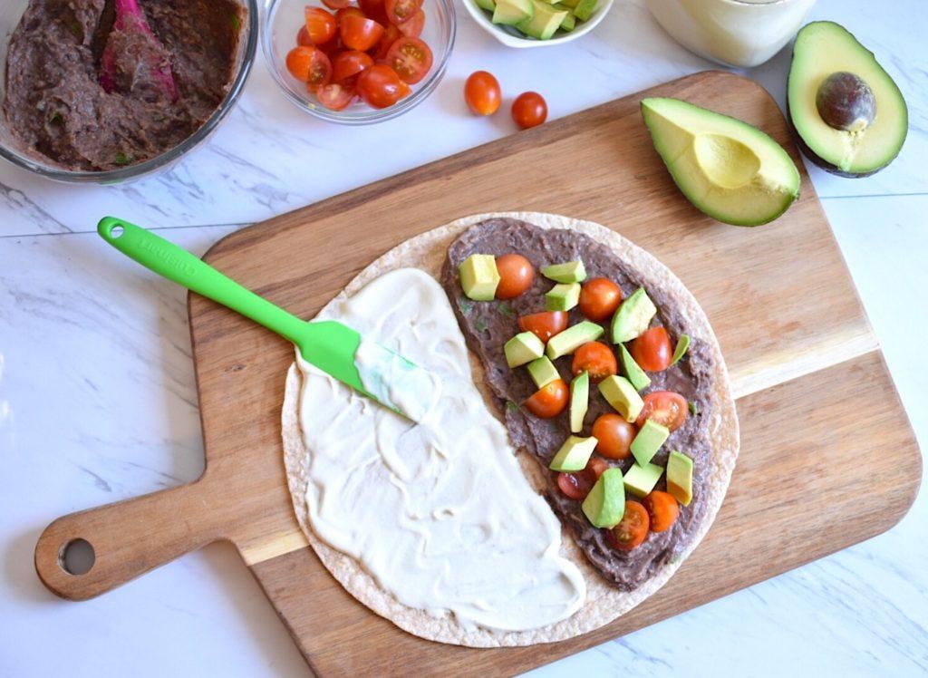 Vegan black bean quesadillas