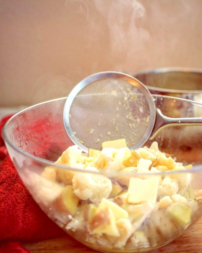 The BEST cauliflower and sweet potato mash