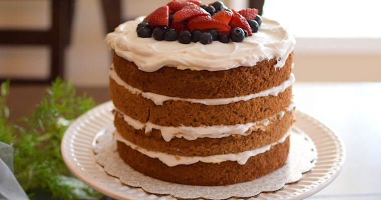 A Natural Tasty Gender Reveal Cake