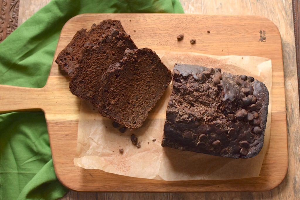 healthy gluten free chocolate zucchini bread