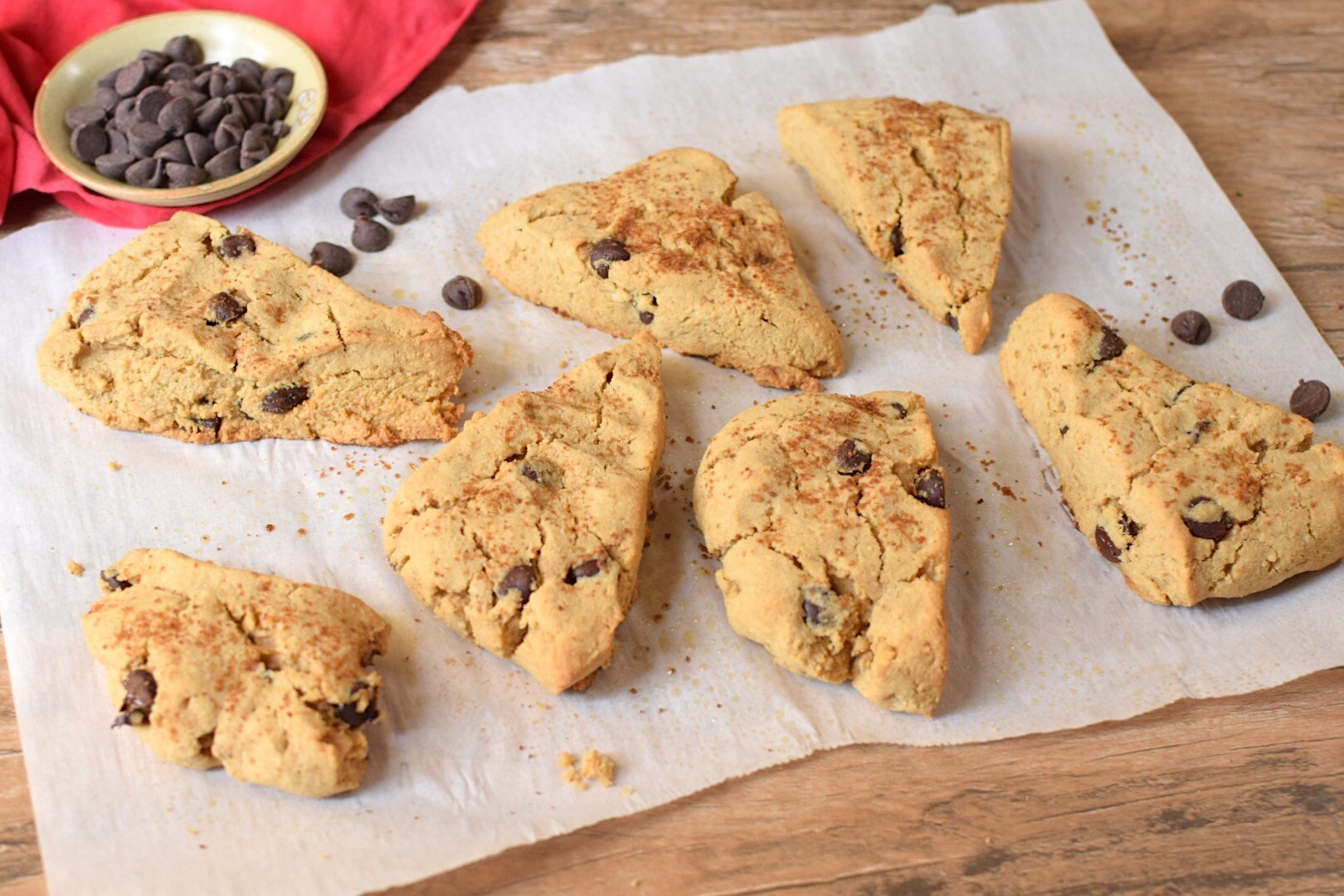 Chocolate Chip Scones for a Candida Diet