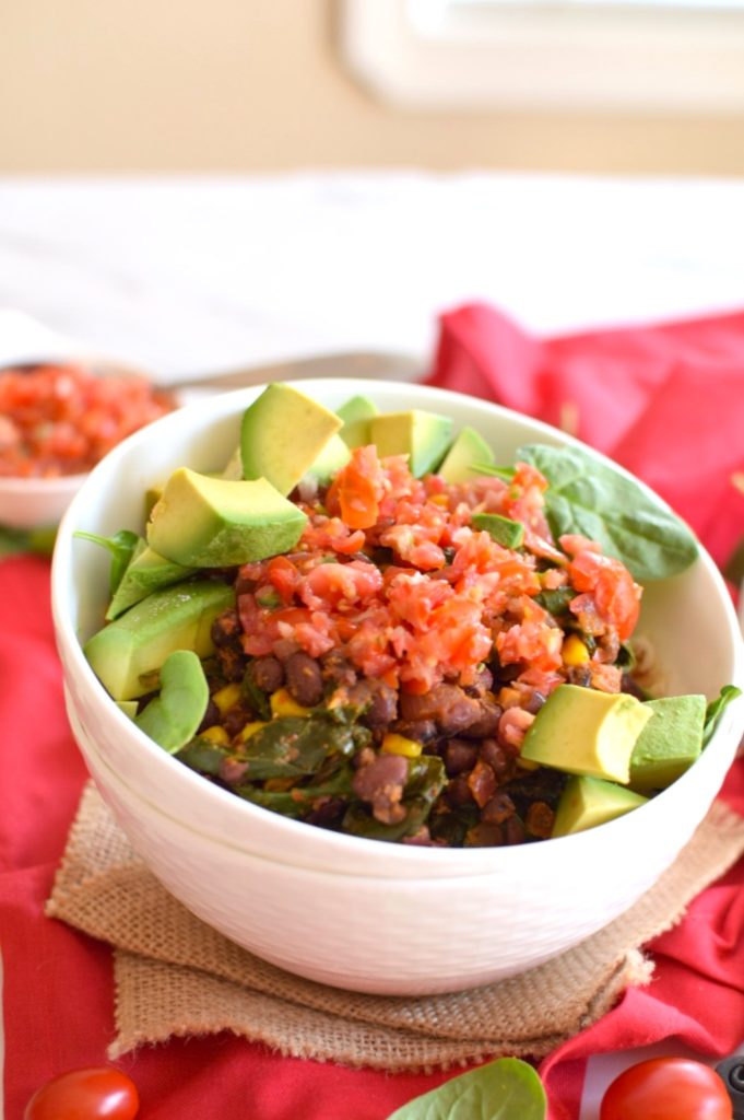 healthy vegan black bean bow