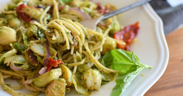 Nut-Free Pesto Pasta – Anti-Candida