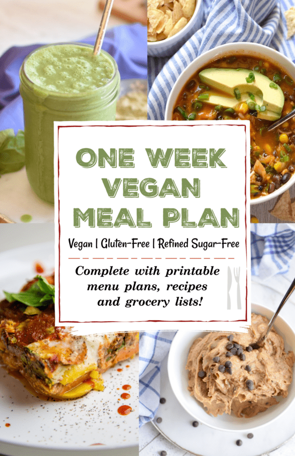 One Week Vegan Meal Plan