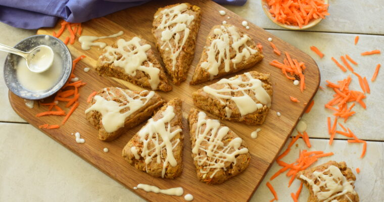 Gluten-Free Carrot Cake Scones