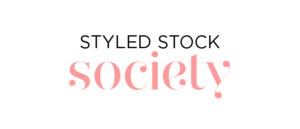 Styled Stock Society feminine stock photos logo.