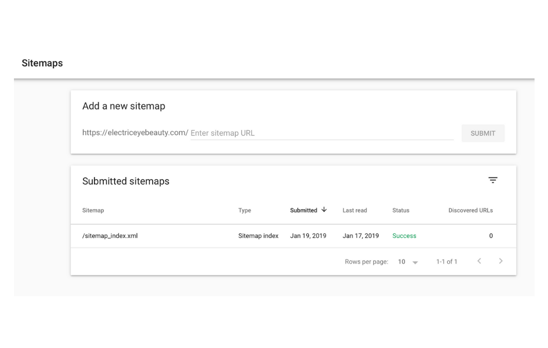 Your are now finished setting up Google Search Console.