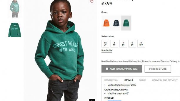 DeWinter Marketing RANT: H&M Monkey Shirt Scandal One Of The Biggest Marketing Gaffes Of The Year