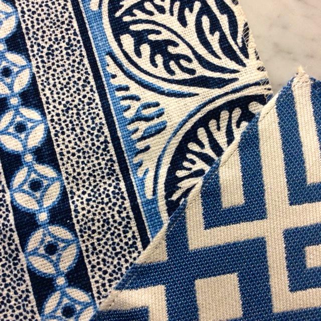 Two Duralee blue beauties
