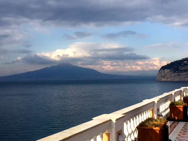 View of Mt. Vesuvius from our hotel