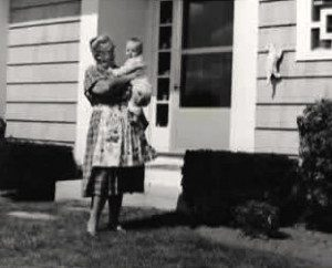 Grandma Grace holding me at her house in Charlestown