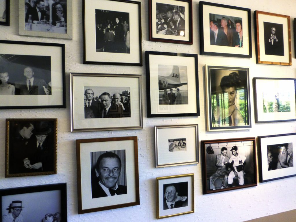 Wall of pictures in Sinatra House