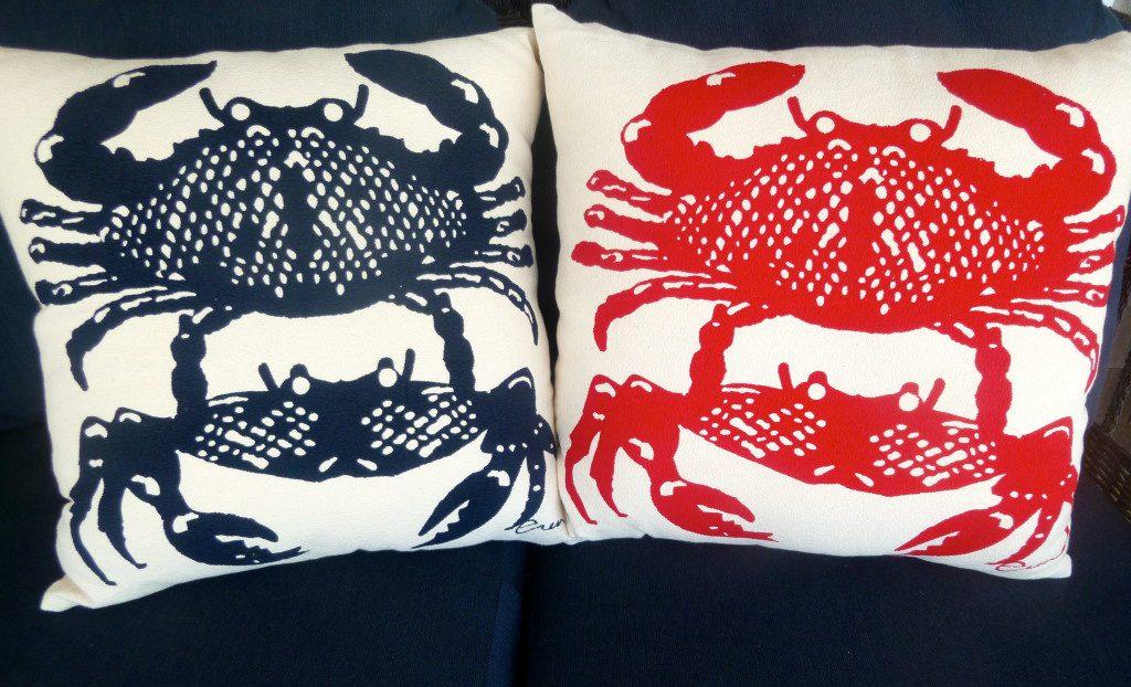 Erin Flett Crab Pillows