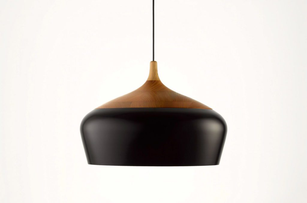 Coco Flip black and wood pendant