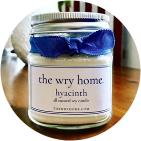 The Wry Home Hyacinth Candle
