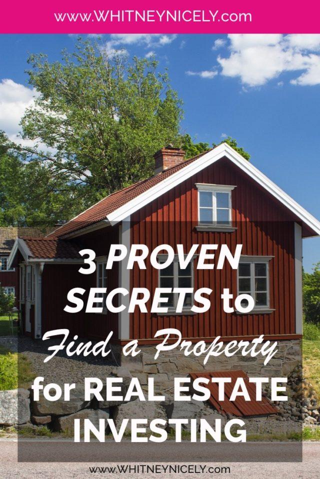real estate, real estate investing, find a property for investing, get started in real estate investing, how to find a property