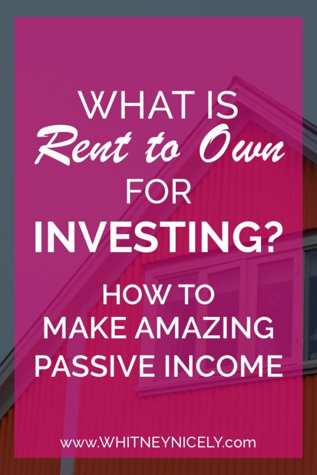 image of house, what is rent to own for investing?