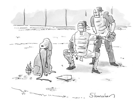 danny-shanahan-dog-at-home-plate-with-a-leash-in-his-mouth-waiting-for-pitcher-to-walk-h-new-yorker-cartoon