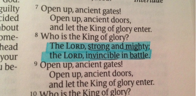 The battle is Yours.