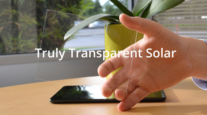 Truly transparent solar energy