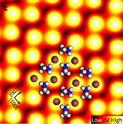 Perovskites : Scanning tunneling microscopy image courtesy of Ohmann et al