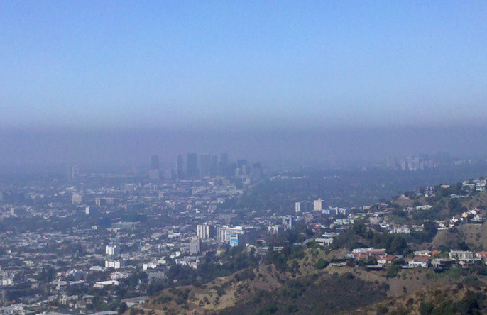 Of course, Beijing isn't the only city with air polution. This photo shows Los Angeles, CA obscured by smog. Malingering via Flickr