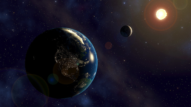 Artists rendition of our home planet of and sun by Kevin Gill. suns