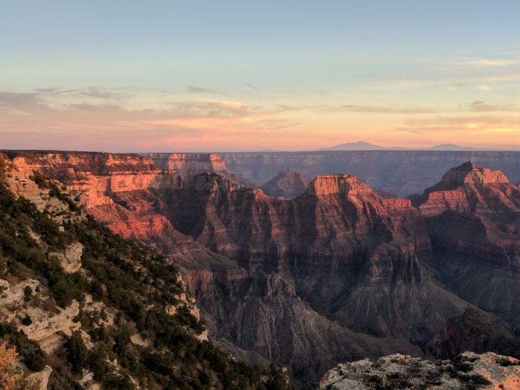 The Grand Canyon, AZ. The top from the North rim, photo by Alyssa Abbey in October 2017