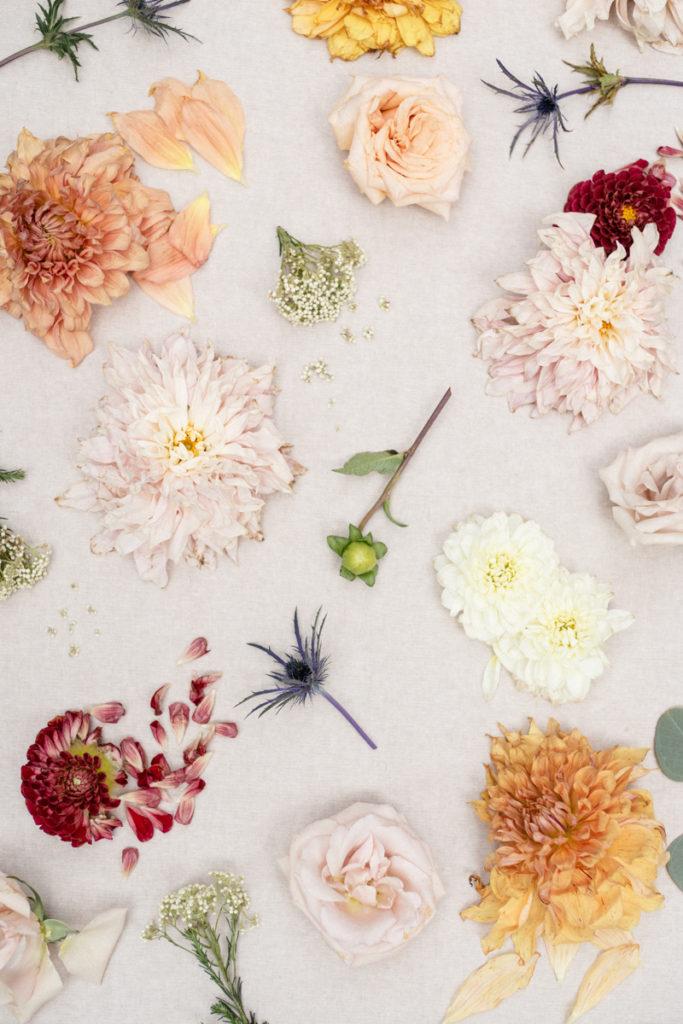Dahlias on dahlias wedding bouquet