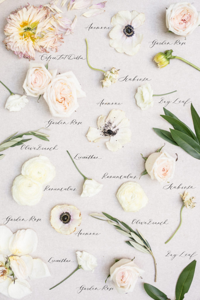 Anemone and blush rose wedding bouquet
