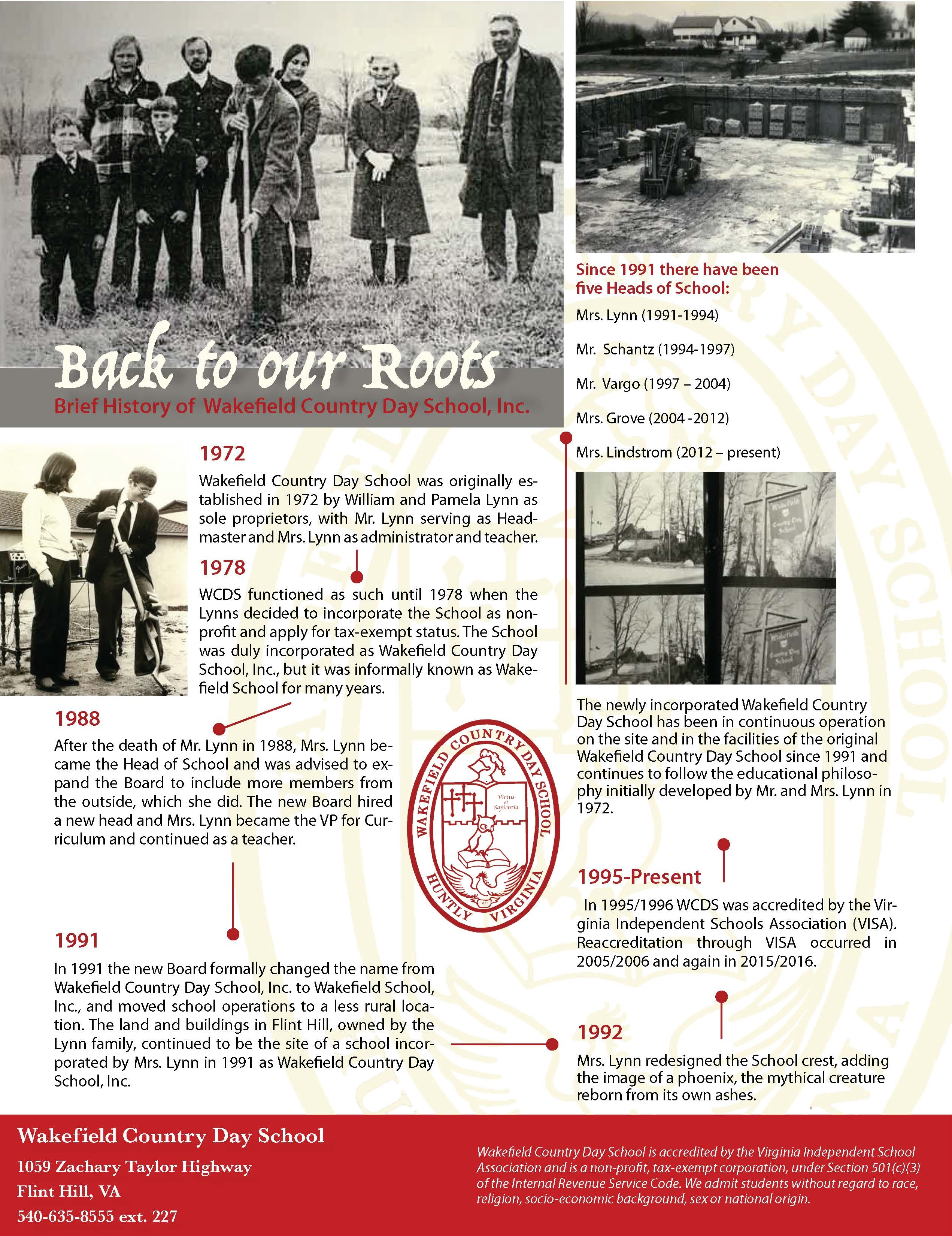 History of WCDS