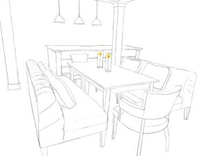 Three Blacksmith Table Renderings