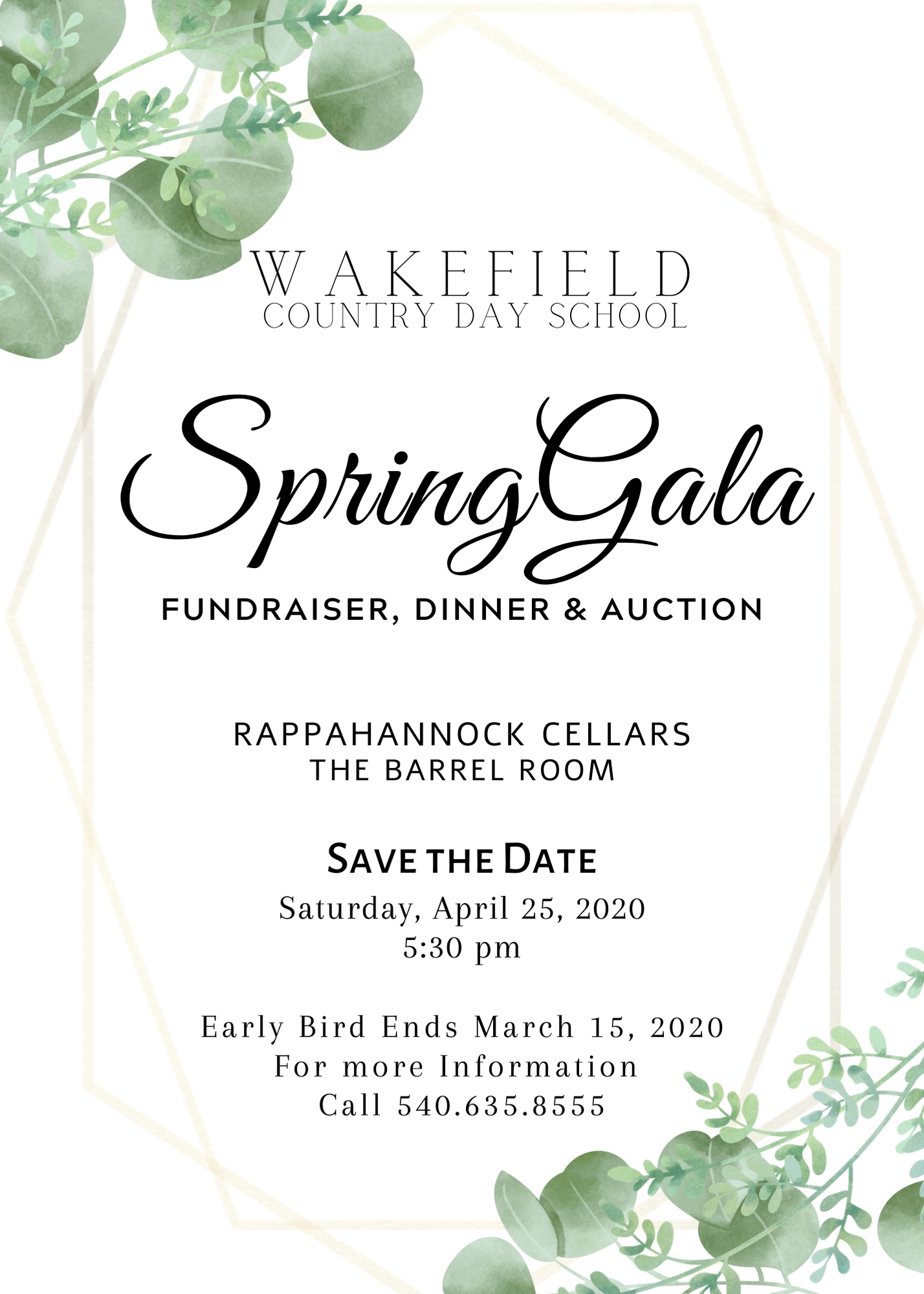 Save the Date Spring Auction Gala