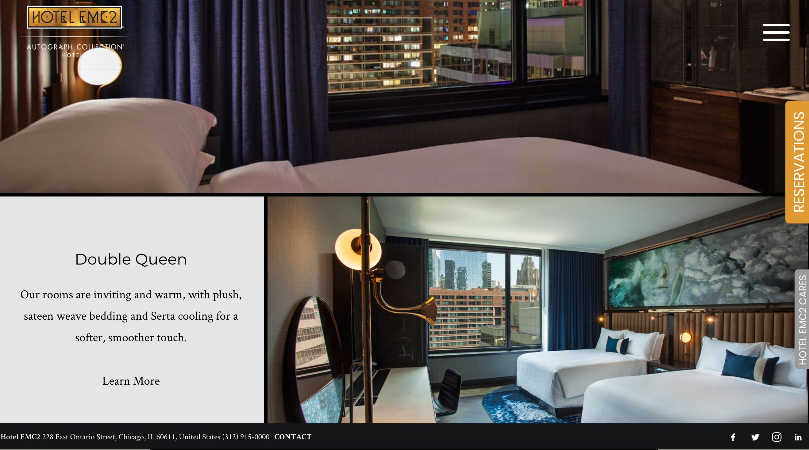 Hotel EMC2 Website 3