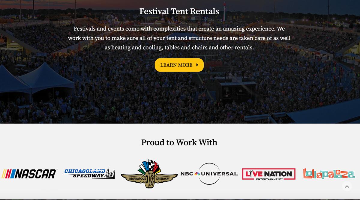 Joliet Tent | 97 Switch, Digital Marketing Agency