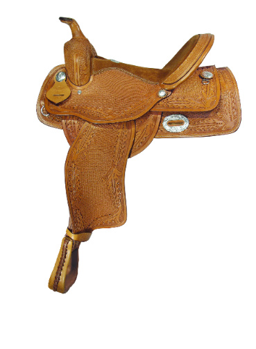 1051 OAKLEAF & BASKET TOOLED PLEASURE SADDLE